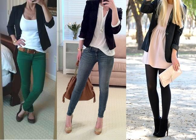 Wear your black blazer this fall Black blazer outfit ideas