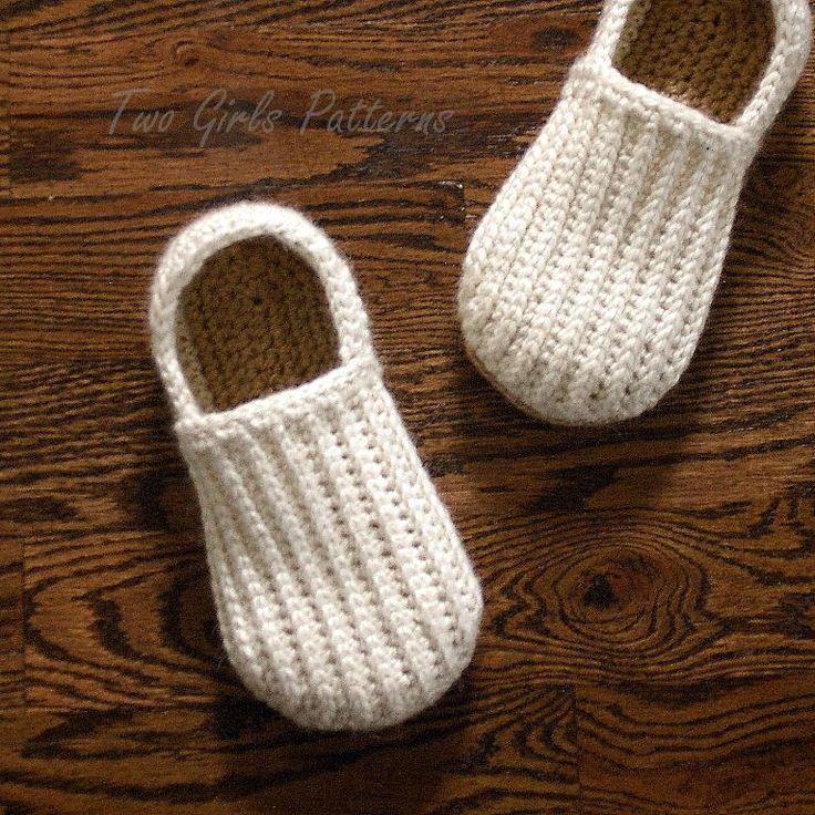 Mens house shoe crochet pattern: