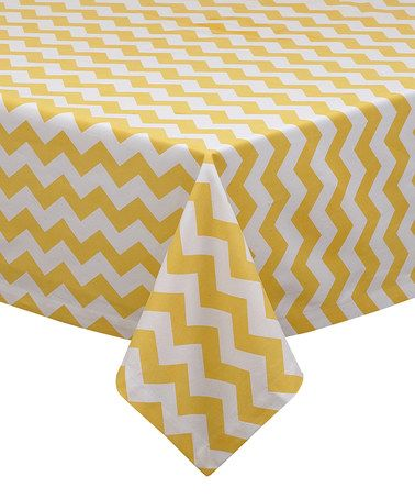 Love this Snapdragon Chevron Tablecloth on #zulily! #zulilyfinds
