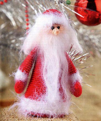 Дед Мороз, вязаный крючком описание