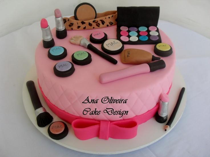 Simple Makeup Cake Design : 17 Best images about Maquiagem on Pinterest Cake make ...