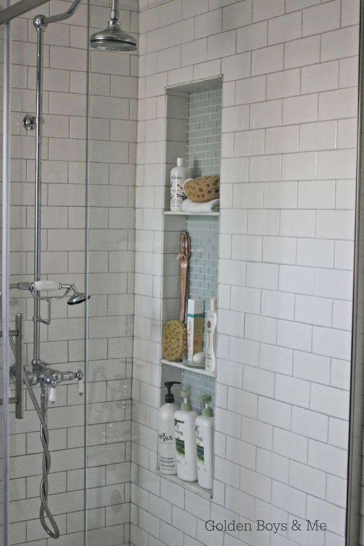diy tall shower niche tutorial www goldenboysandme com. 78 Best ideas about Shower Niche on Pinterest   Bathroom showers