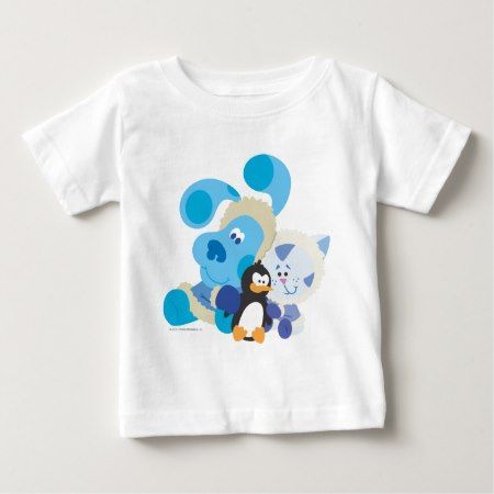 Blue's Clue - Blue, Periwinkle, and Penguin Baby T-Shirt - click/tap to personalize and buy