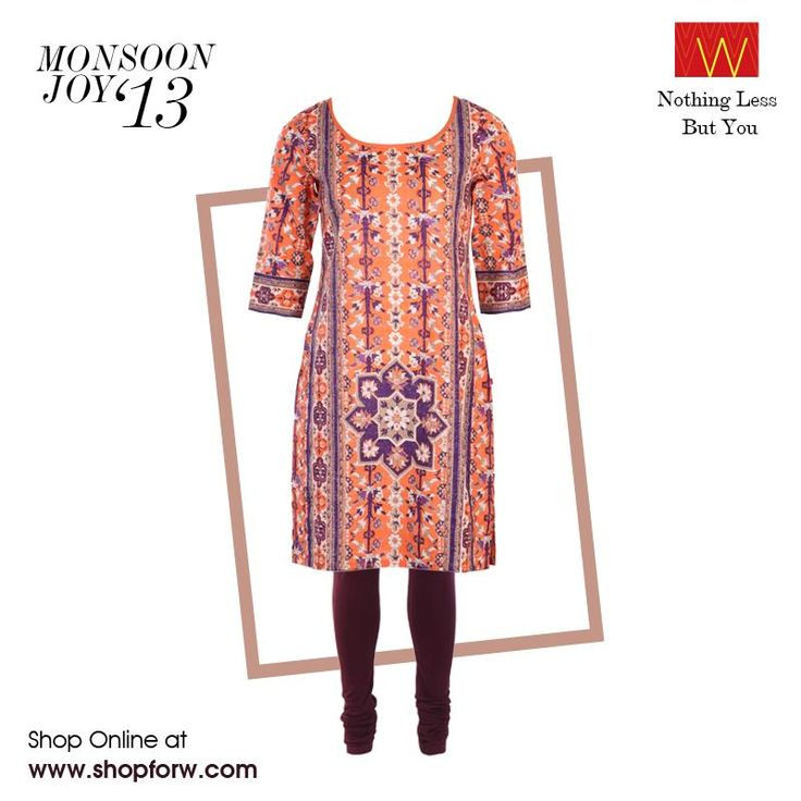 Whether it's a busy working day, a trip to the grocery store or attending a much-awaited art exhibition, vibrant colours make the best multi-purpose ensembles.  #W for #Woman #clothing #mix #print #colours #vibrant #bold #monsoon