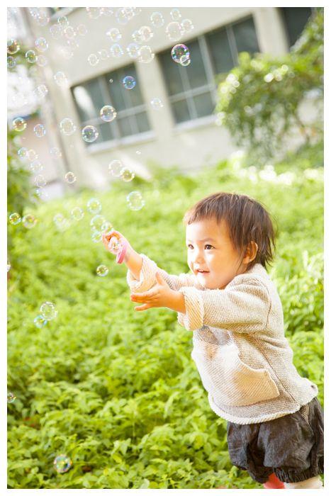 Magico set Amechan in legno per soffiare bolle di sapone nell'aria. Design by Kiko+ in Japan.