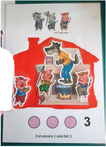Photos du livret Trois petits cochons chez Christine F