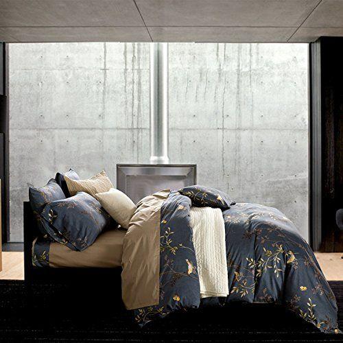 brandream luxury vintage floral bird bedding set elegant duvet covers queen full size click