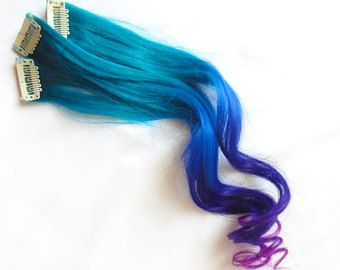 GALAXY OMBRE 100% Human Hair Extensions DOUBLE Wef…