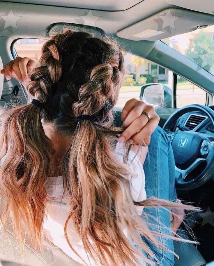 vsco vscogirl vscocam Penteados com trança