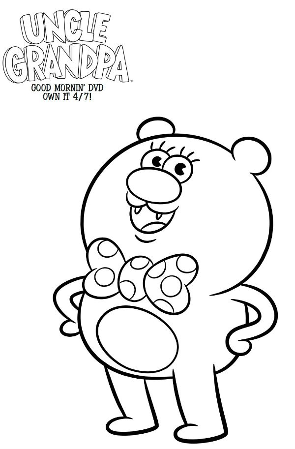 Free Cartoon Network Uncle Grandpa Coloring Page