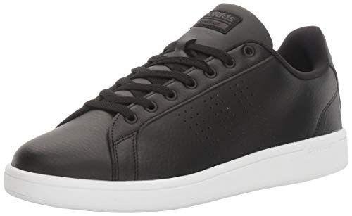 adidas Men's Cloudfoam Advantage Clean Sneakers, Black/Black/White ...