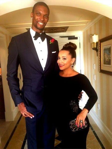 LeBron James wedding: C. Bosh and wife.