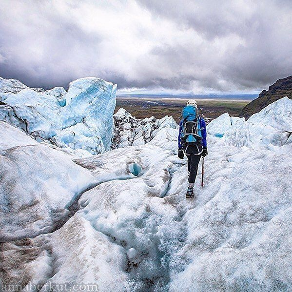 "From our @outdoorwomen Instagram community: ""We've done a half day glacier hike in crampons"" says @anyaberkut. ""It was great day in Skaftafell National Park Iceland."" :: What is the farthest location your adventure has taken you? Share with us in the comments!"