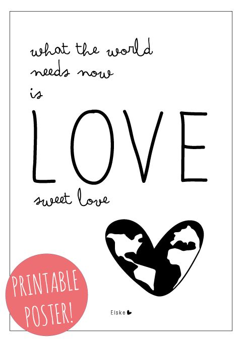 Elske: the world needs love (weekly challenge - #6) printable