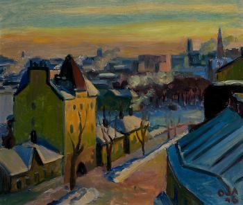 ONNI OJA Frosty Day in Helsinki (1946)