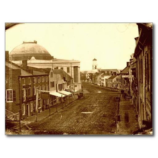 Portland, Maine Middle Street 1846 Postcard
