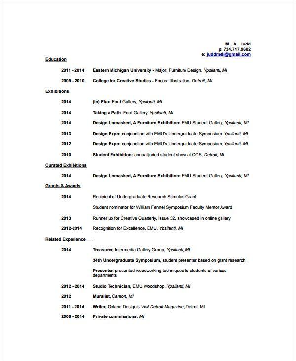 Cv Template Artist 2-Cv Template Artist resume, Resume templates