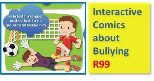 Bullying, Boo to Bullies, Anti-Bullying, Teaching Aids about Bullying, Lessons about Bullies, Interactive Comics about Bully Behaviour