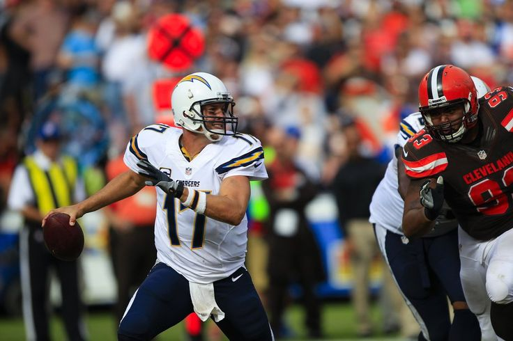 Chargers Philip Rivers felt the pressure brought on by the Cleveland Browns defense Sunday afternoon at Qualcomm Stadium.