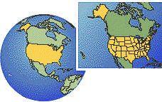 USA Time Zones: Standard Time + Daylight Saving Time + Time Zone information