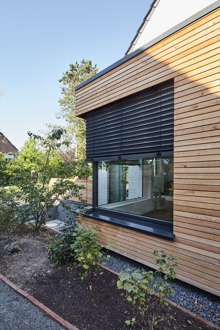 Unique Hausfassade Holzverkleidung Rollladen Fensterbank Garten Hausumbau Fenster http
