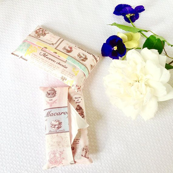 Pocket Tissue Cases Two Pink Travel Tissue Holders French