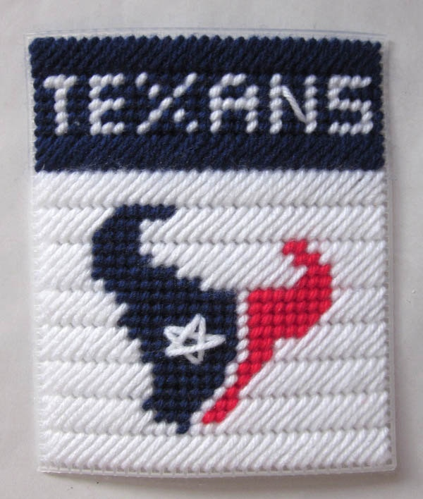 Houston Texans tissue box cover plastic canvas PATTERN ONLY