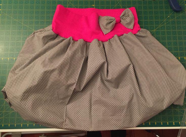Dámska balonova sukne s mašlí :)
