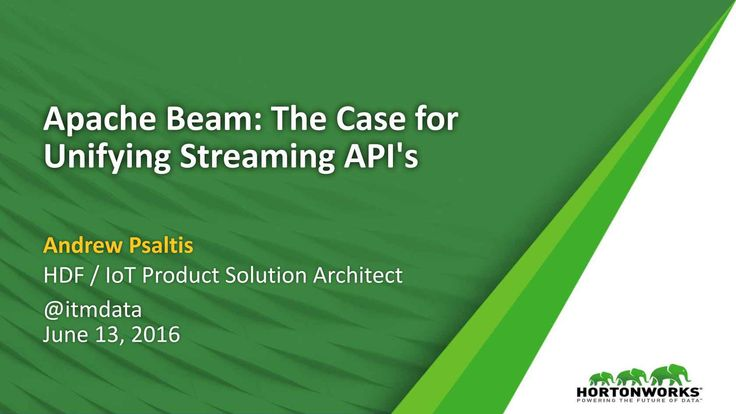 Apache Beam aims to provide a unified stream processing model along with a set of language-specific SDKs for defining and executing complex data processing, data ingestion and integration workflows. This will simplify how we implement and think about large-scale batch and streaming data processing. Pipelines can be run on Apache Flink, Apache Spark, and Google Cloud Dataflow with more to come.