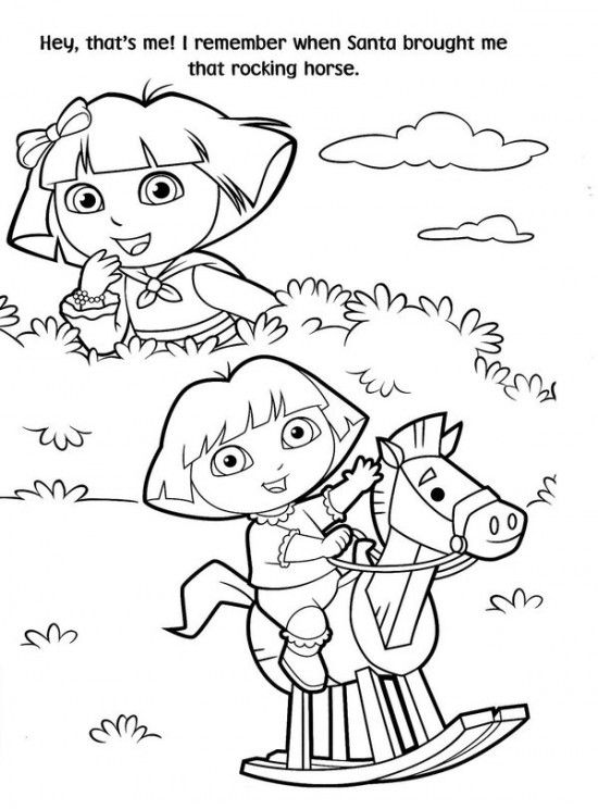 Free Printable Dora Christmas Coloring Pages Picture 27