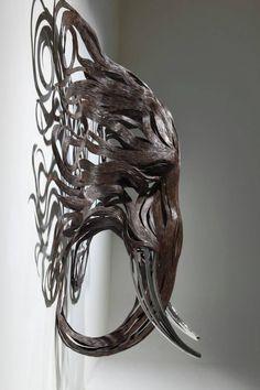 Les Sculptures animalières de Bandes métalliques de Sung Hoon Kang (12)