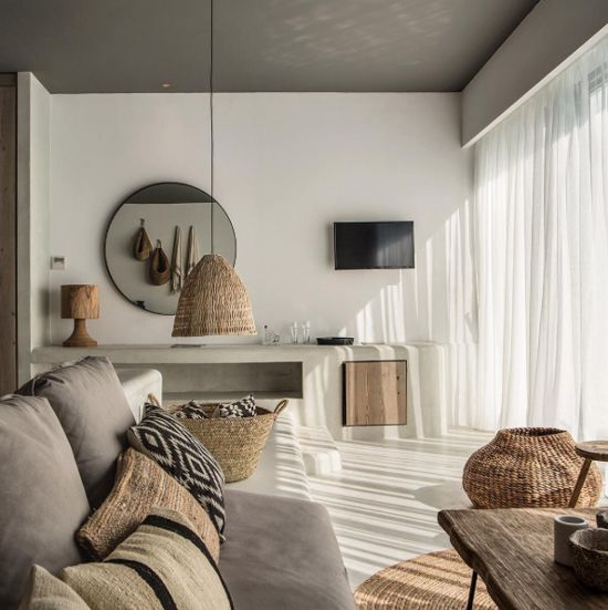 Natural palette, simple elegance and cozy atmosphere are the key of the success of this bohemian hotel in Rhodes, Casa Cook