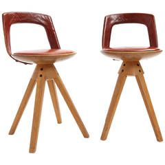 Swiveling Stools by Tove and Edward Kindt-Larsen