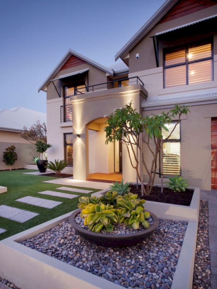 High Quality 60 Modern Front Yard Landscape Ideas
