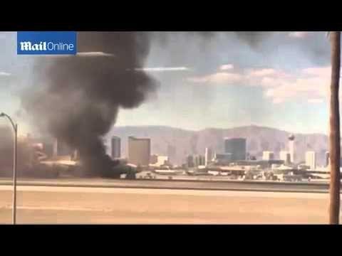 British Airways Passengers flee burning plain as black smoke fills the air