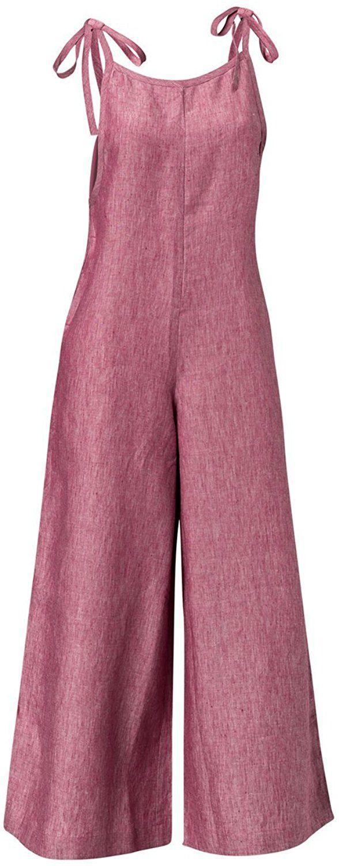 Amazon.com: Caroline's Linen Overalls Red Small: Clothing