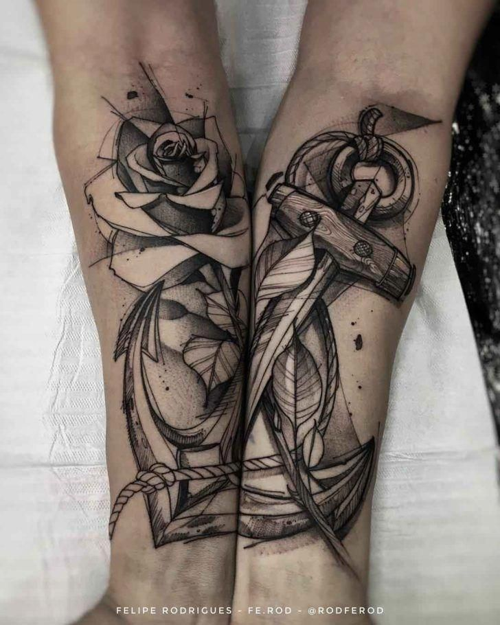 Forearms Tattoo Anchor #Lowerbacktattoos