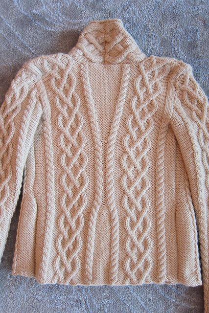 Jennipoo's Fireside Sweater, the back.