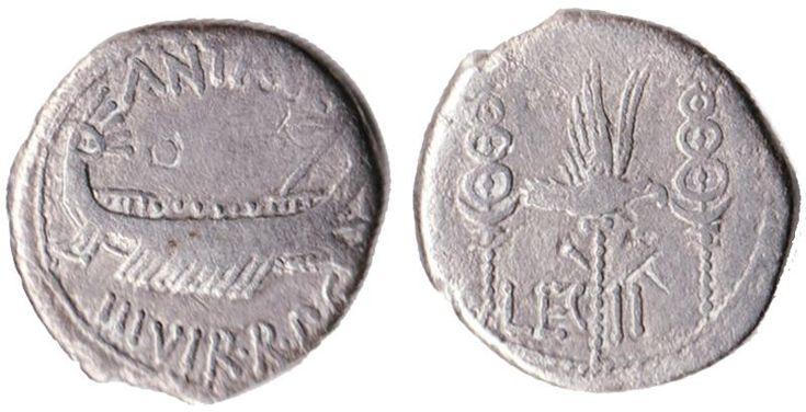 Marc Antony 32-31 BC Silver denarius