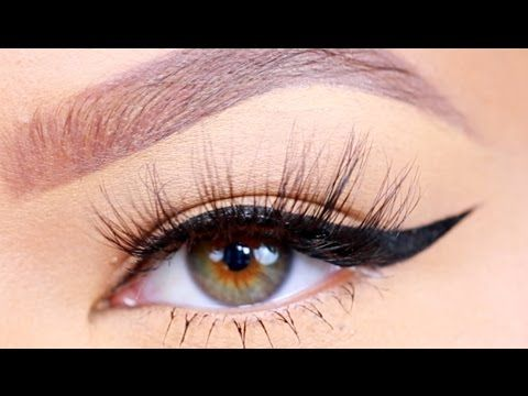 How To: Winged Eyeliner For Hooded Eyes (Updated!) - YouTube