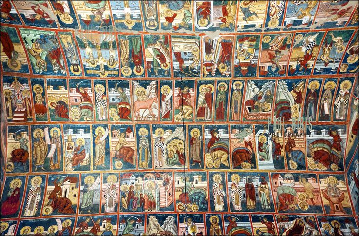 https://flic.kr/p/aQQ2up | Sistine Chapel of the East | Painted Ceiling of the Voronet Monastery | Bukovina painted  monasteries- Romaina      © Copyright Paul Biris