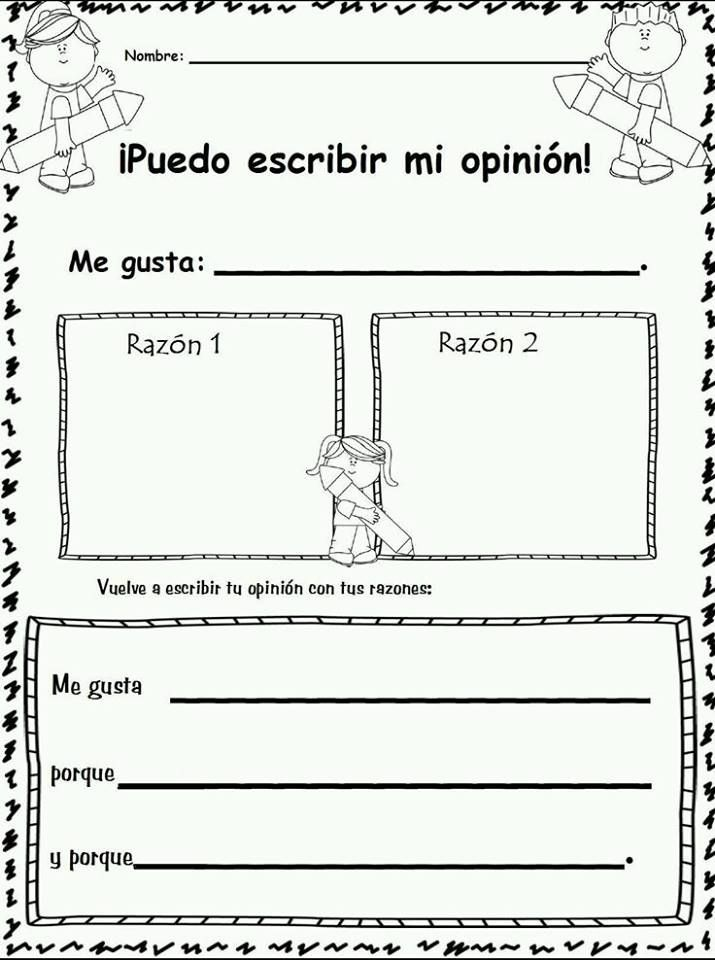Opinion Spanish Writing paper