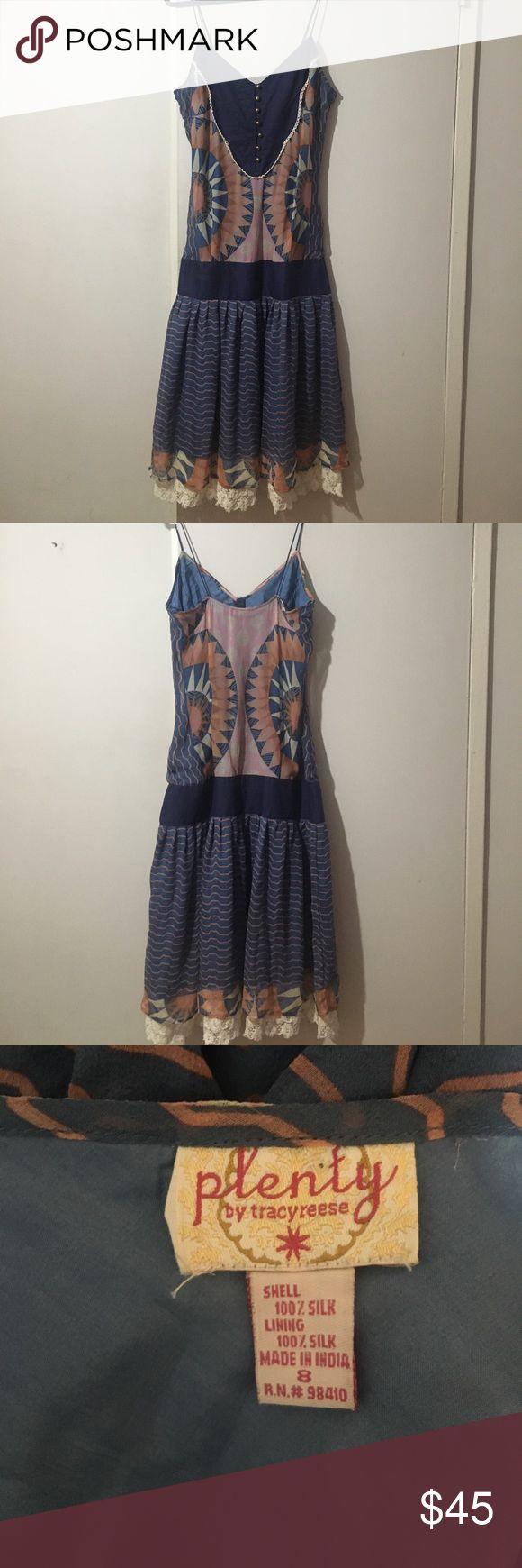 Plenty by Tracy Reese Dress Silk dress with drop waist. Very good condition. Plenty by Tracy Reese Dresses Midi