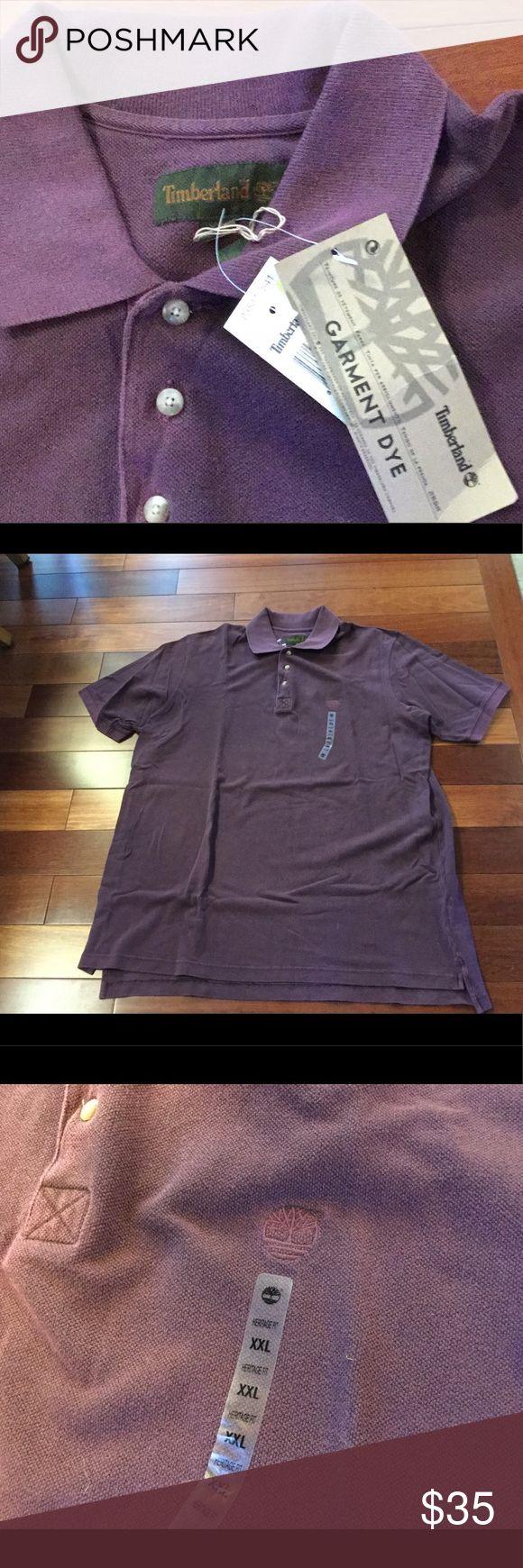 🆕 Men's Timberland Polo Shirt NWT men's Timberland polo shirt. Burgundy in color. Timberland Shirts Polos