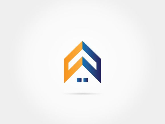 Home roof house logo by @Graphicsauthor