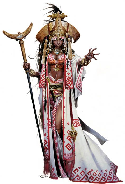 My character in my Pathfinder campaign is a human oracle with a ridiculous amount of charisma (wink, wink.) The mini is on its way in the mail, but I don't think I want to paint it like from the book. So this should be fun!
