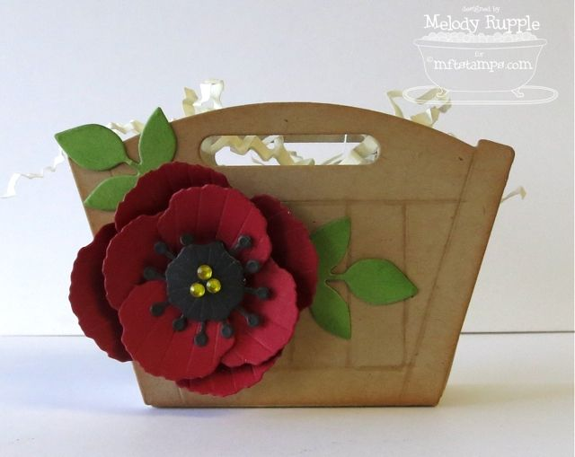 MFT - Pretty Poppies. Flower Box Die. A Paper Melody: MFT March Teasers Day 1 - Hello