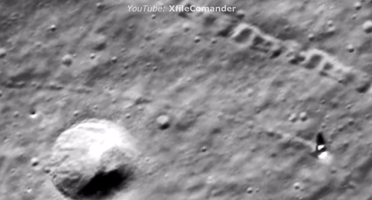 Двигающиеся неопознанные объекты, мегалиты на Луне