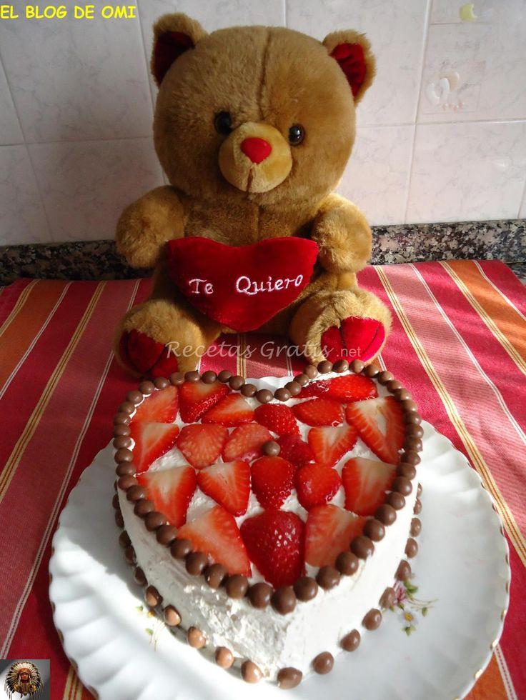Receta de Tarta De Fresas Para San Valentín