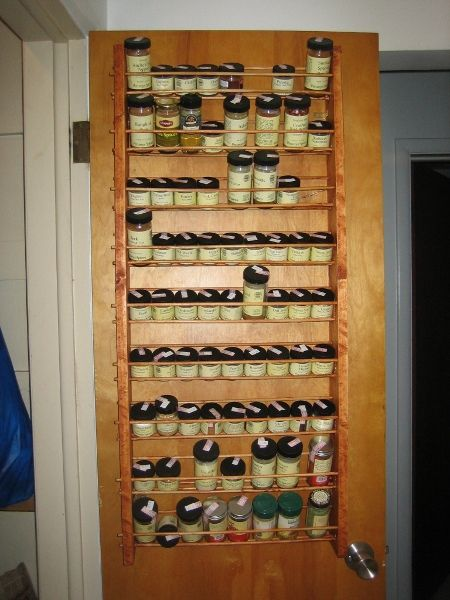 The Defendant: Spice Rack Hang Rack On The Inside Of Pantry Door.put Foils  And Saran Wraps Here And Spices On Wall.